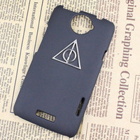Deathly Hallows Harry Potter And Black Hard Case Cover With For HTC One X, HTC S720e,HTC