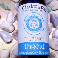 "Throat Chakra Spray ""I Speak"" 5th Blue Chakras - Improve Communication, Speak Your Personal Truth, Stand Up For Yourself - Be Able to Say No"