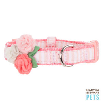 Martha Stewart Pets® Fresh Meadows Stripe & Flower Adjustable Dog Collar | Collars | PetSmart