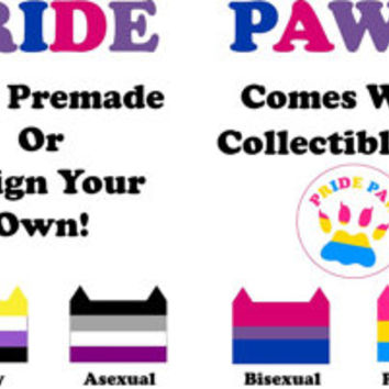 PRIDE PAWS - Sexuality/Gender Expression Pride Flag Plush Cat