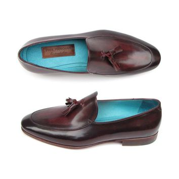 paul parkman men s tassel loafer black purple shoes id 049 blk purp  number 1