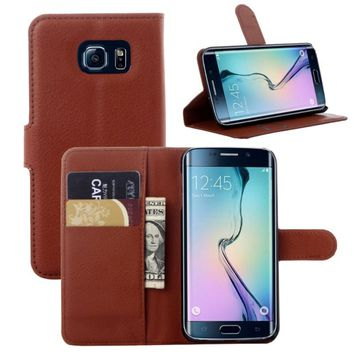 PU Leather Wallet Flip Case for Samsung Galaxy S5 S6 S7 edge S8 Plus Retro Cover Phone Full Protector for Samsung note 7 8