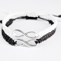 Infinity Bracelets Black and White