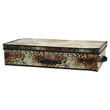 Tango Folding Under-Bed Storage Box-Leopard