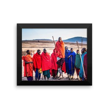 Levitating African Man Framed photo paper poster