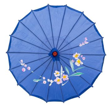 "THY COLLECTIBLES 22"" Kid's Size Japanese Chinese Umbrella Parasol For Wedding Parties, Photography, Costumes, Cosplay, Decoration And Other Events (Blue)"