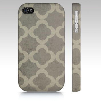 Chunky Clover - Iphone 4, 4s, 5 & Samsung Galaxy s3, S4 Case / cover - Grey, Southern, Rustic, Chic, Cottage, Luxe, Pattern, neutral,