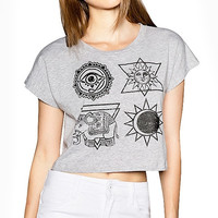 Grey Galaxy Tribal Totem Elephant T-shirt
