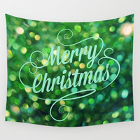 Merry Christmas Wall Tapestry by RDelean