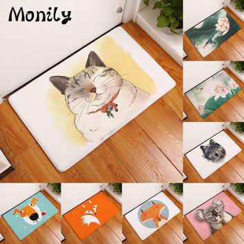 Autumn Fall welcome door mat doormat Monily Entrance Waterproof  Cartoon Fox Koala Cat Kitchen Rugs Bedroom Carpets Decorative Stair Mats Home Decor Crafts AT_76_7