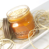 Soy Scented Candle, Pumpkin Honey Chai scented Soy Candle -- 8 ounce Jar