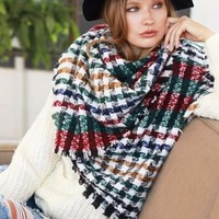 Houndstooth in the Valley Blanket Scarf