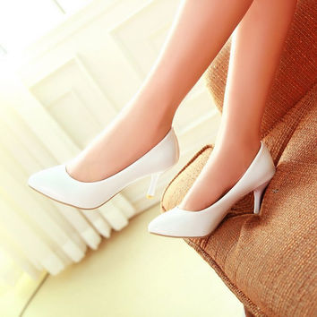 Pointed Toe Women Pumps High Heels Spike Heel Jelly Shoes Woman