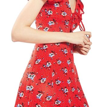 Topshop Floral Spot Tea Dress | Nordstrom