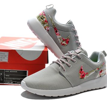 """""""NIKE"""" Trending Fashion Casual Sports Shoes Grey Floral"""