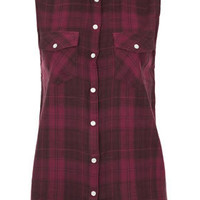 Sleeveless Check Shirt - New In This Week  - New In