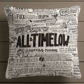 all time low music band Square Pillow Case Custom Zippered Pillow Case one side and two side