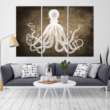 72456 - Octopus Wall Art- Octopus Canvas Print- Octopus Poster Print- Wall Art Octopus- Octopus Wall Decor