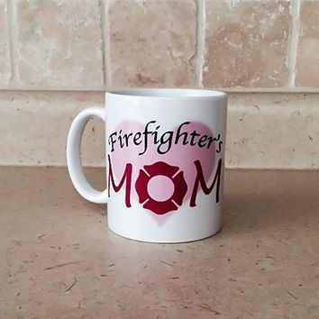 Firefighter Mom Coffee Mug - Firefighter Mom Gift - Firefighter Maltese Coffee Mug - Fire Fighter Mom - Coffee Mug Gift - Mom Coffee Mug