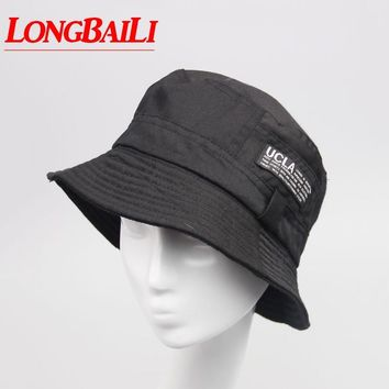 100% Cotton Bucket Hats Men Reversible Sun Beach Caps Fisherman Hats Women Free shipping SDDB011