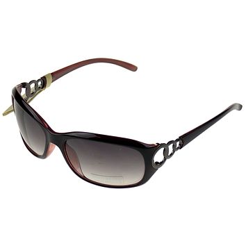 Levi Strauss DOCKERS Womens Sunglasses UV Oval Brown Plastic Large 62-18-130