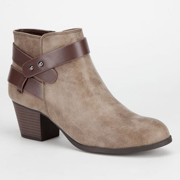 City Classified Bevan Womens Booties Taupe  In Sizes