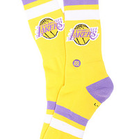 Stance Socks The Los Angeles Lakers NBA Hardwood Classic Collection Socks in Yellow : Karmaloop.com - Global Concrete Culture