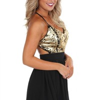 Gold Sequin LBD