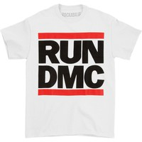 Run DMC Men's  Classic Logo White T-shirt White