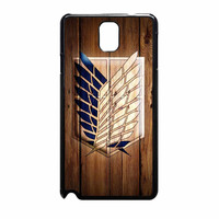 Attack On Titan Legion Logo Wood Samsung Galaxy Note 3 Case