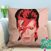 Ziggy Stardust David Bowie Zippered Pillow Case, Cushion Case, Pillow case