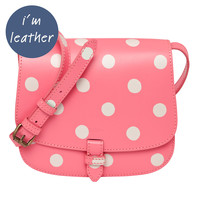 Valentine's Day | Button Spot Small Leather Cross Body Bag | CathKidston