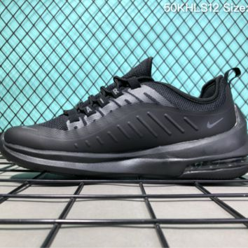 AUGUAU N024 Nike  Air Max Axis 98 Flyknit Breathable Running Shoes All Black