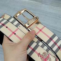 Burberry 2019 new men's stitching plaid pin buckle belt
