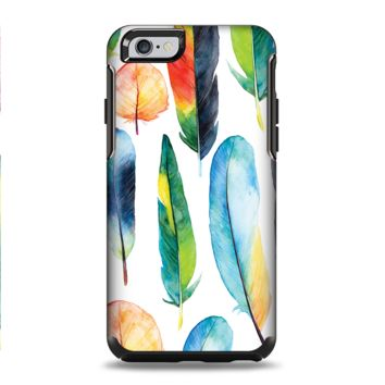 The Bright Water Color Painted Feather Apple iPhone 6 Plus Otterbox Symmetry Case Skin