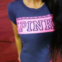 Victoria's Secret PINK Fashion Short Sleeve T-Shirt Top Tee