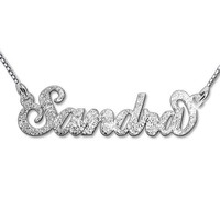 Sparkling Diamond-Cut Sterling Silver Personalized Name Necklace - Custom Made with Any Name!