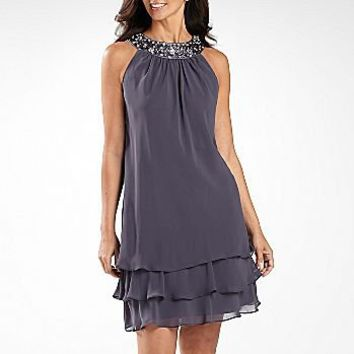S.L. Fashions Beaded Tiered Dress : dresses : women : jcpenney