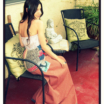 CUSTOM Made to Order LOVE Hippy Vintage Long PJ Maxi Dress