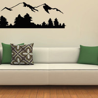 Wall Decals Vinyl Decal Sticker Wall Murals Wall Decor Mountains And Forest (OS249)