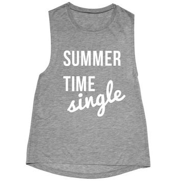 Summertime single unisex Muscle Tank