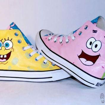 DCKL9 Hand Painted Spongebob & Patrick Converse Shoes