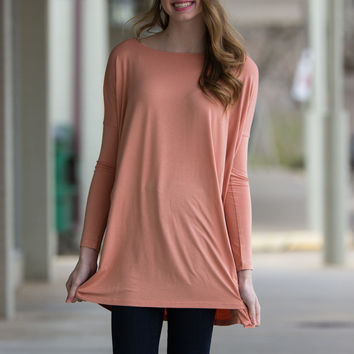 The Perfect Piko Tunic Top-Nude