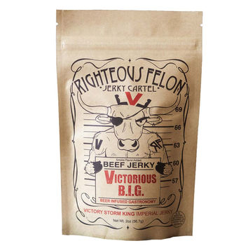 Victorious B.I.G. Beef Jerky by Righteous Felon 2 oz