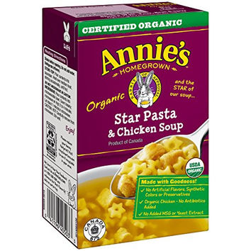 Organic Star Pasta and Chicken Soup - 17 oz each
