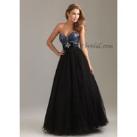 A-Line Sweetheart Floor-Length Tulle Prom Dress SAL1091
