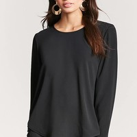 Crepe Lace-Up Back Top