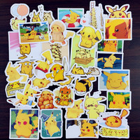 PM003- Pokemon go Pikachu Kawaii Cute stickers, Scrapbooking luggage White/Clear waterproof
