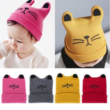 Baby Caps 2018 Autumn Spring Baby Cotton Beanie Knitted Hats For Girls Boys Soft Baby Children's Hats