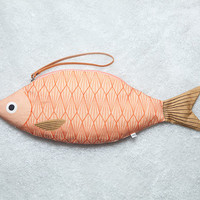 King Salmon - handmade fish hand bag